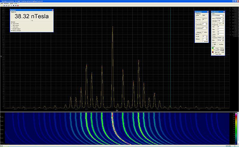 Manual and screenshots for LCS spectrum analyzer software